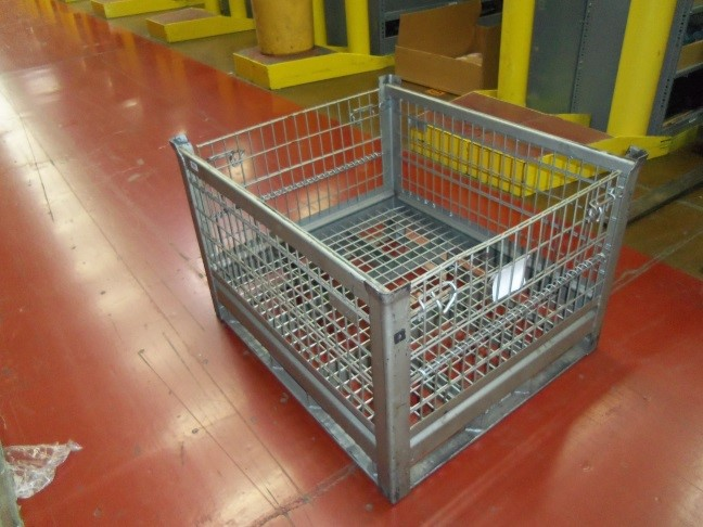 Used Wire Mesh Bins Organize Your Warehouse