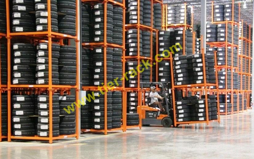 Tier-Rack is able to produce large quantities of portable Tire Racks in their U.S. factories.