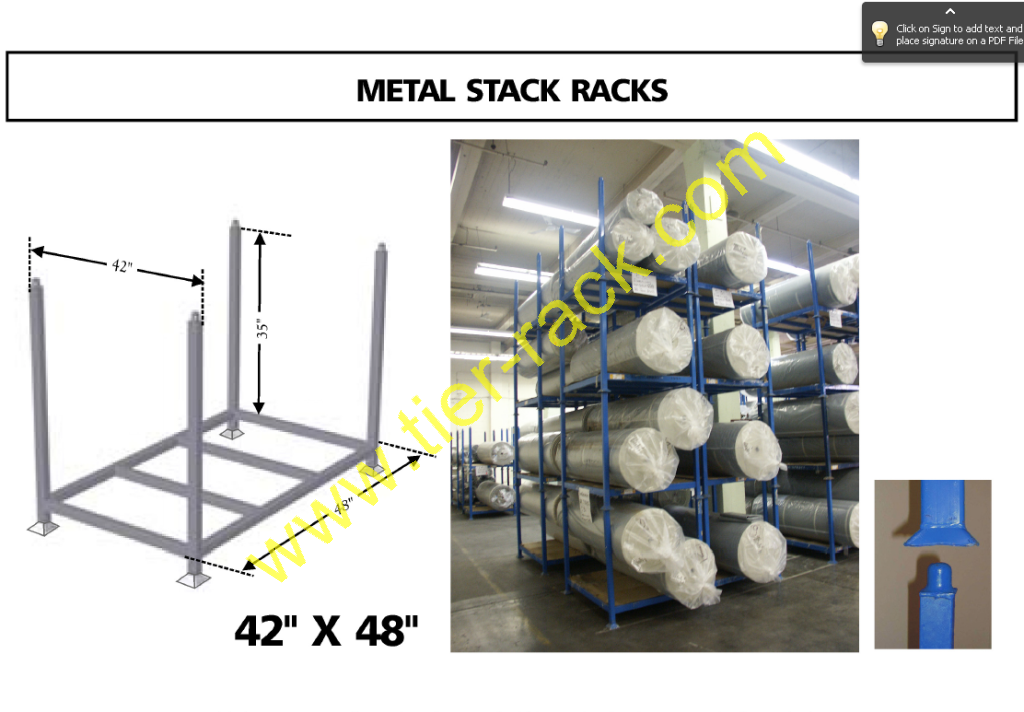 Tier-Rack offers quality used 42x48 stack racks for sale.