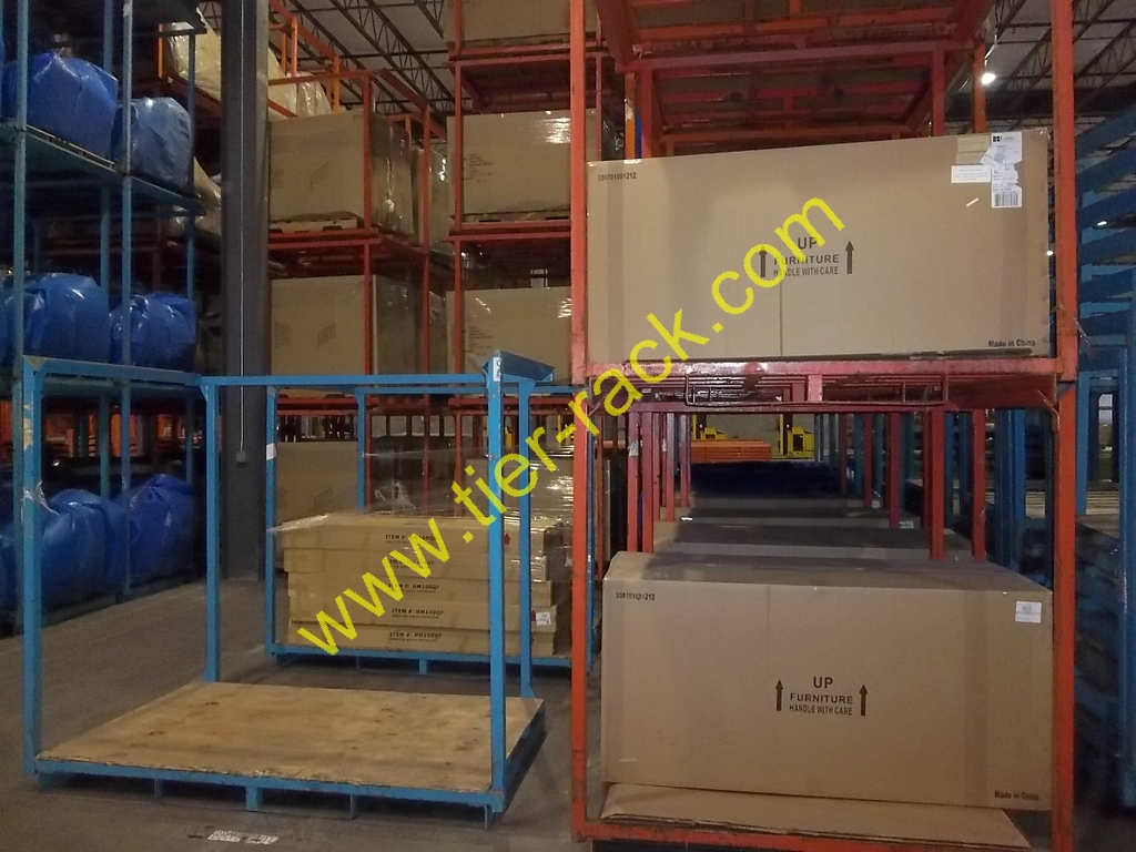 Tier-Rack Corporation offers used nestable racks for sale