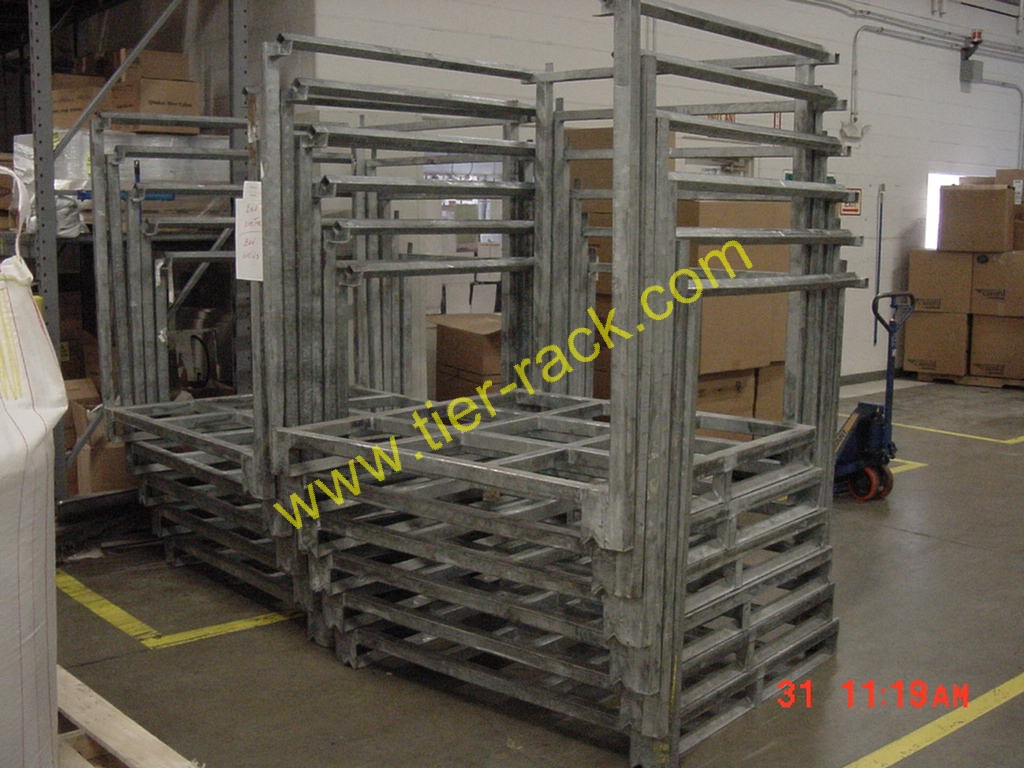 Nesting racks for Movable pallets